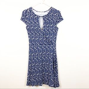 Francesca's MiAmi Navy Floral Wrap Top Dress S NWT
